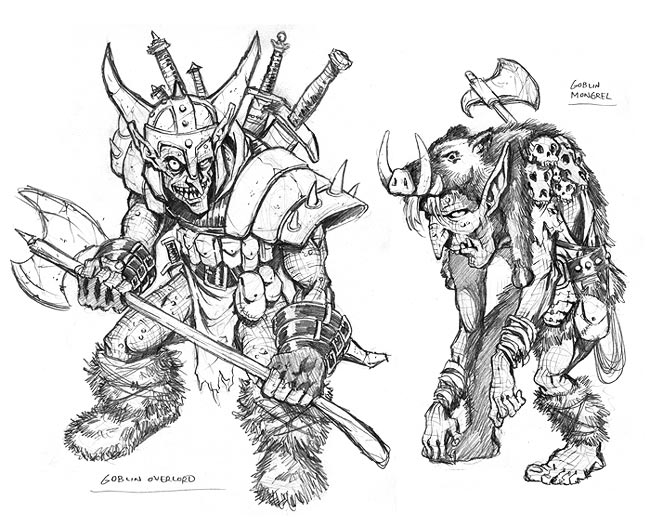 Evil warrior drawings